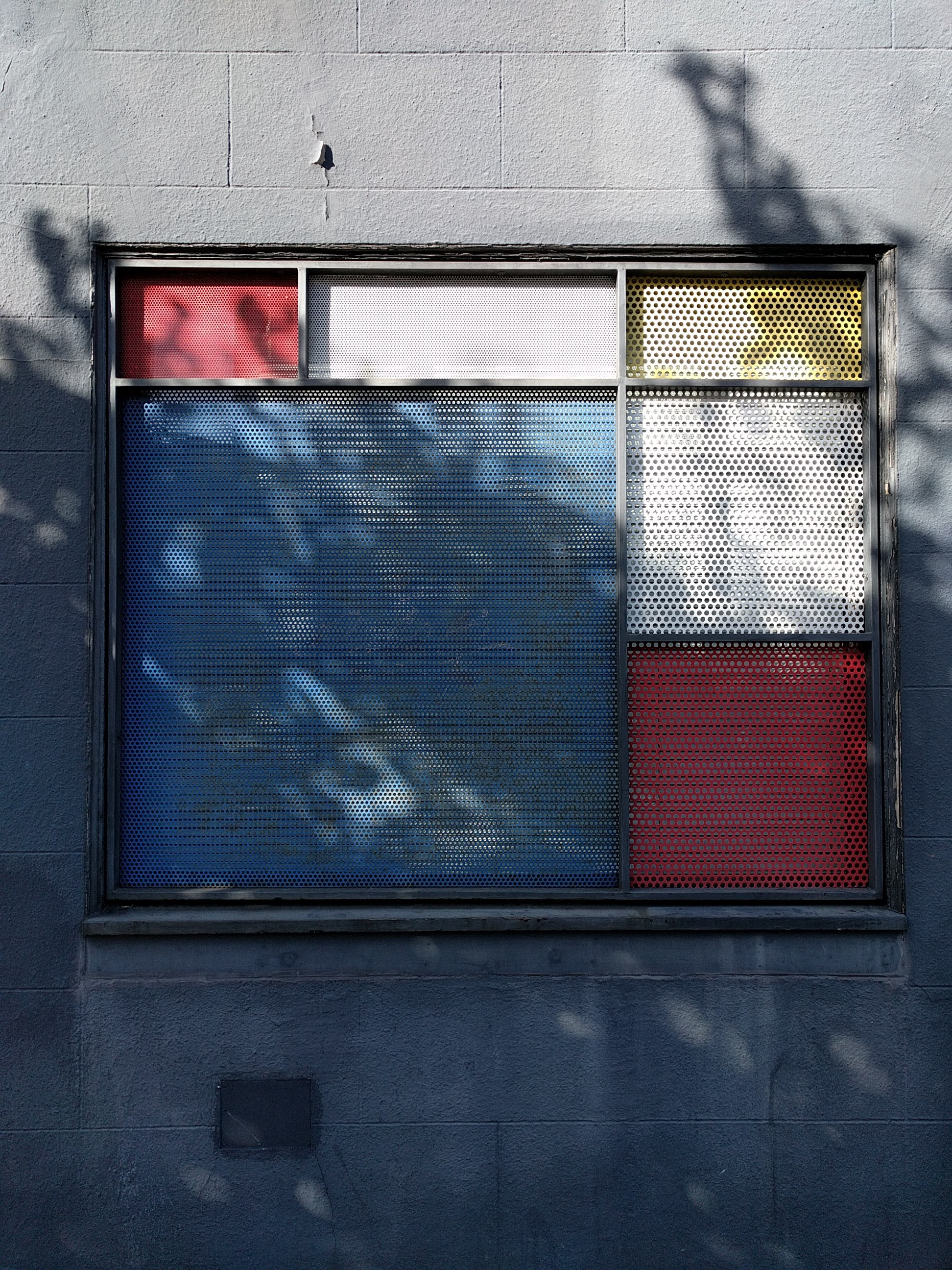 mondrian style window in san francisco