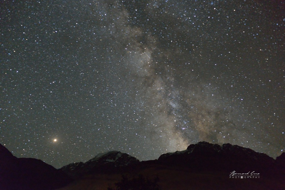 Zood Khun, mountain in front of Pamir Serai at 10:30 PM, early August—Photo Bernard Grua