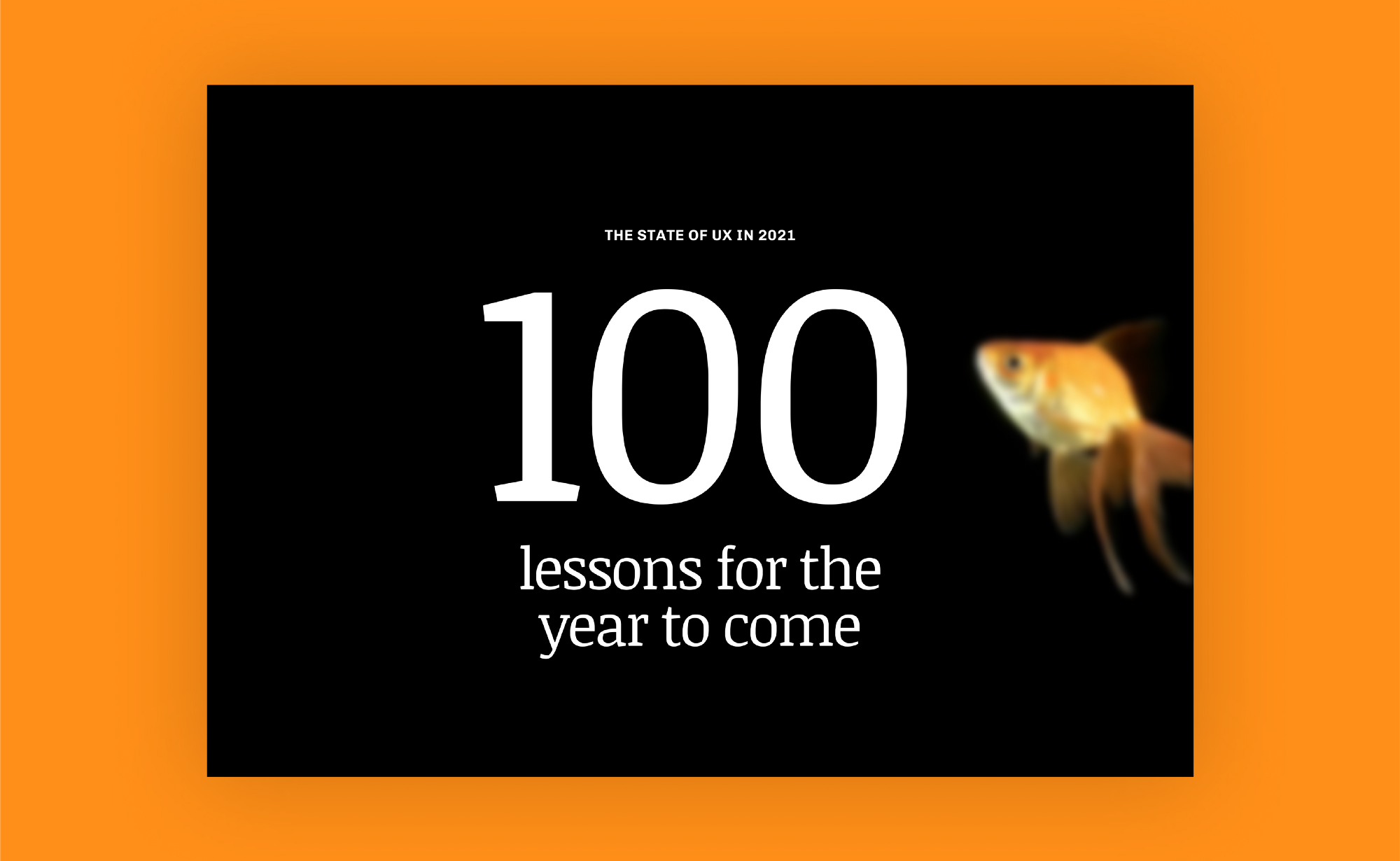Screenshot of the State of UX website that reads 100 lessons for the year to come