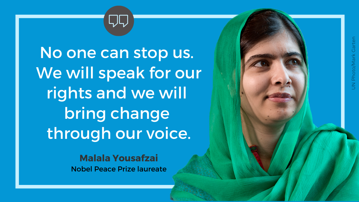 """""""No one can stop us. We will speak for our rights and we will bring change through our voice."""""""