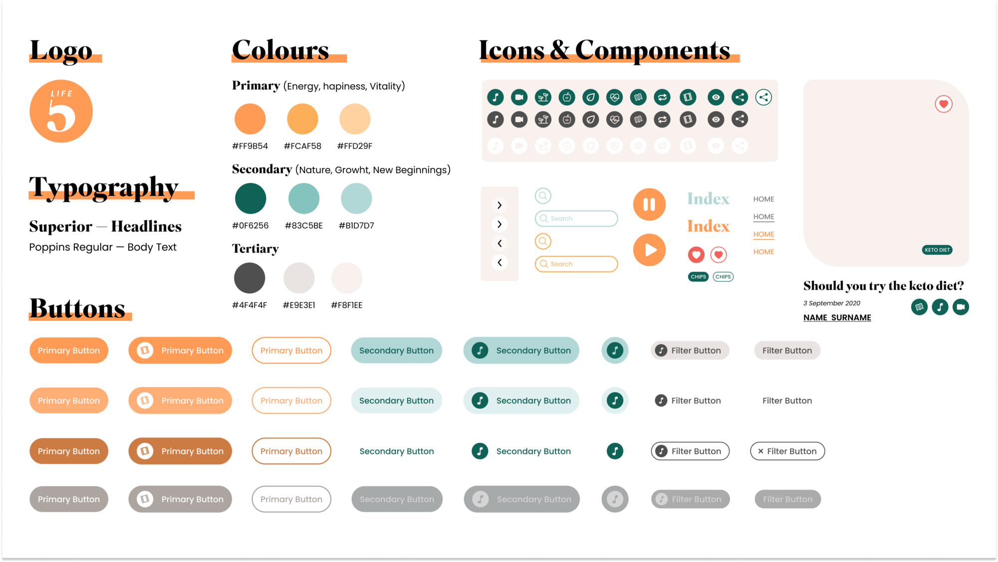 Brand Guidelines and Design System—LifeFive