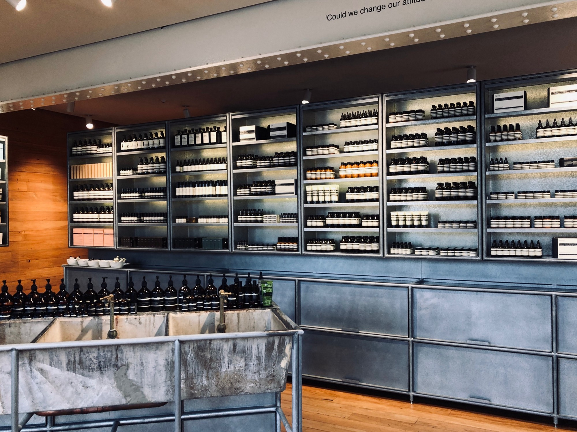 Aesop stores are renowned for their unique layouts