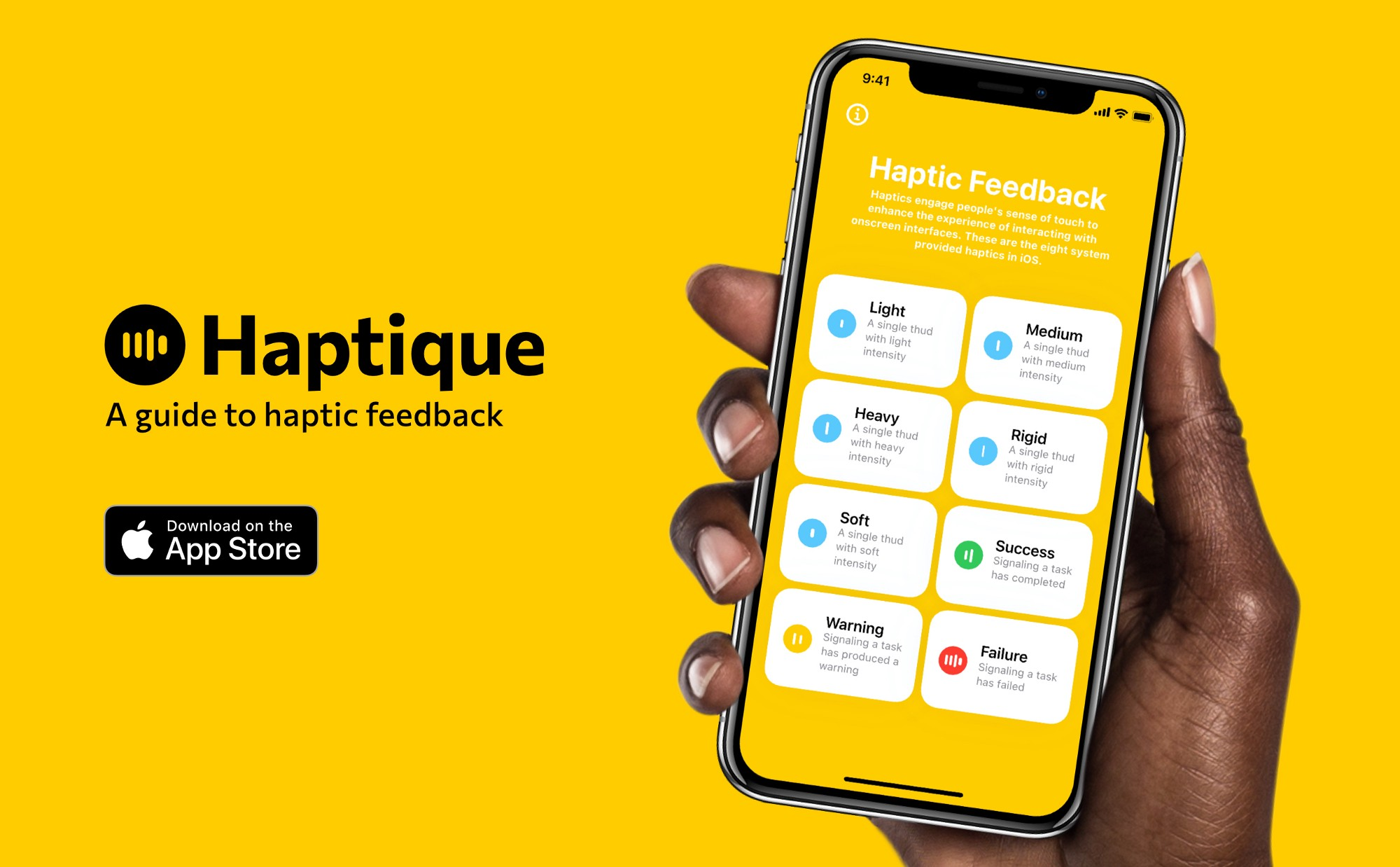 Product image of Haptique — Woman holding iPhone with Haptique