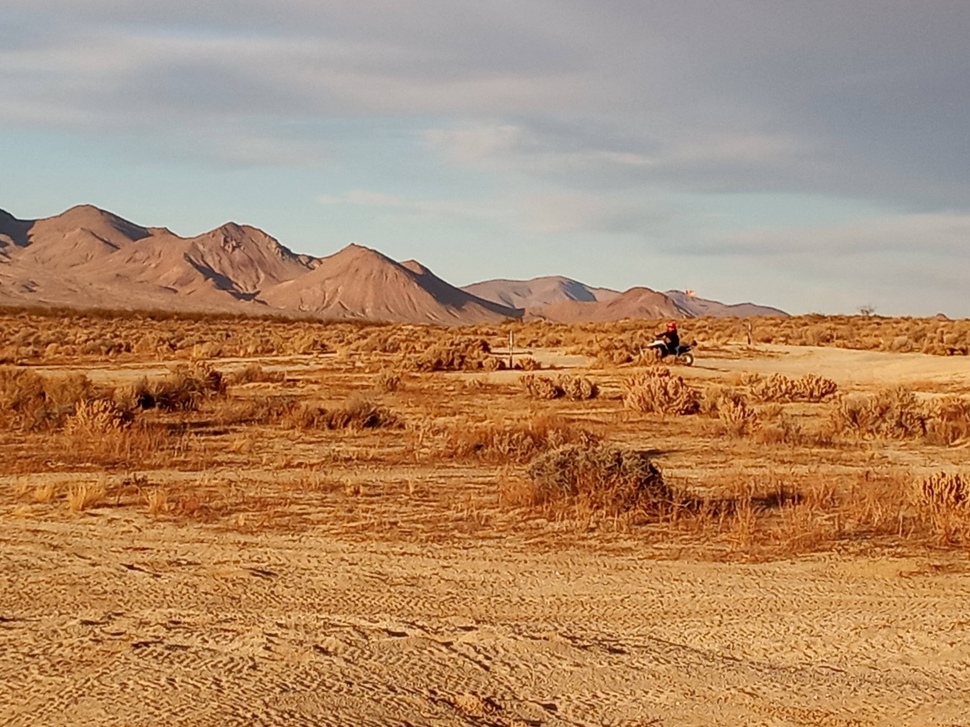 View of the mountains from BLM land near Randsburg.