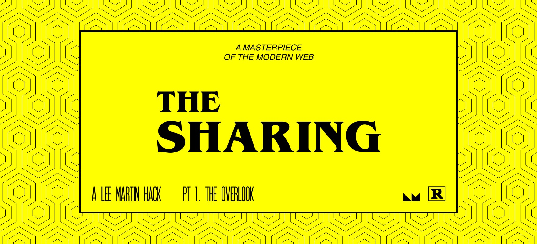A banner introducing The Sharing post series.