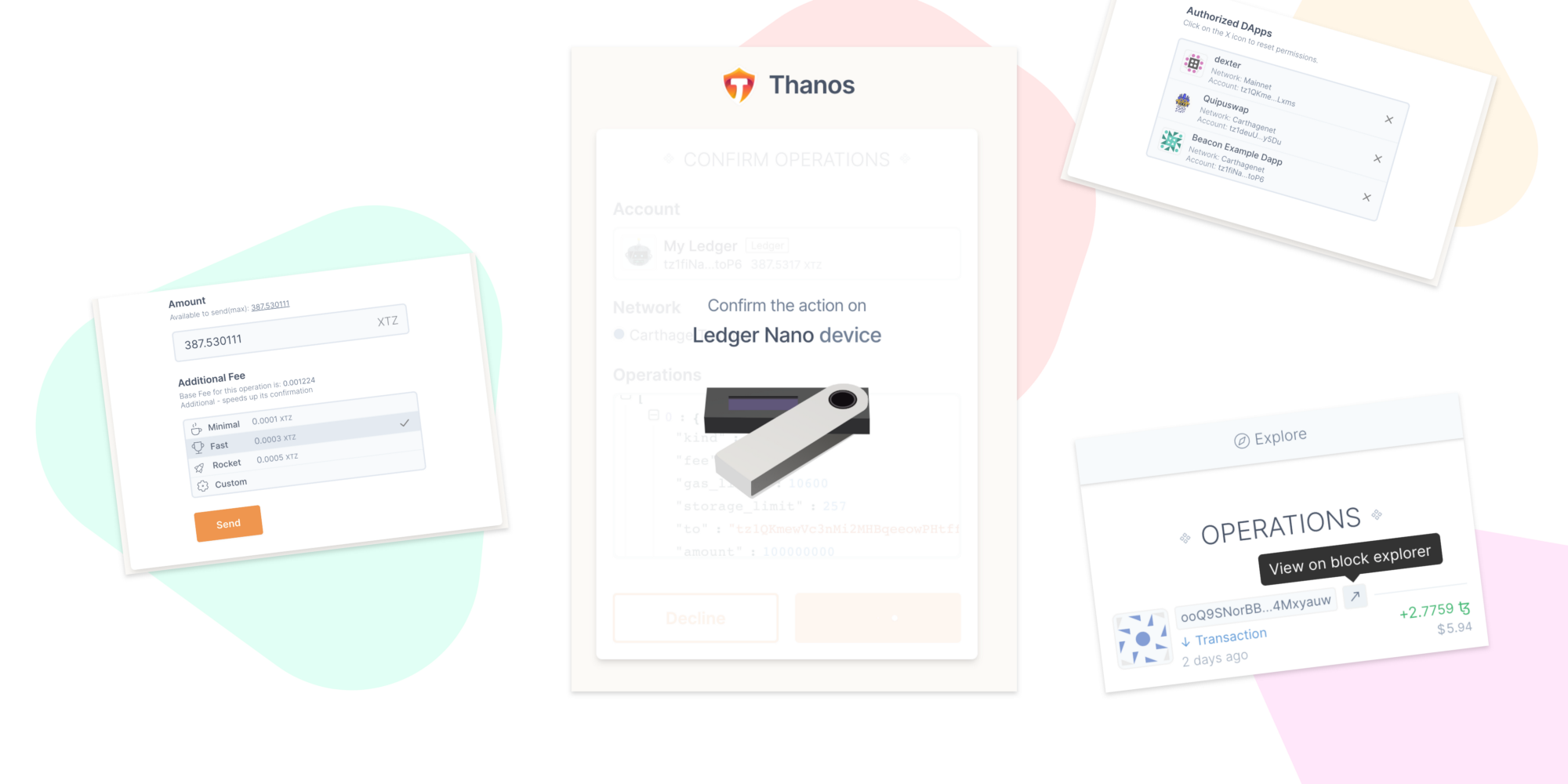 Thanos Wallet Features Highlighted