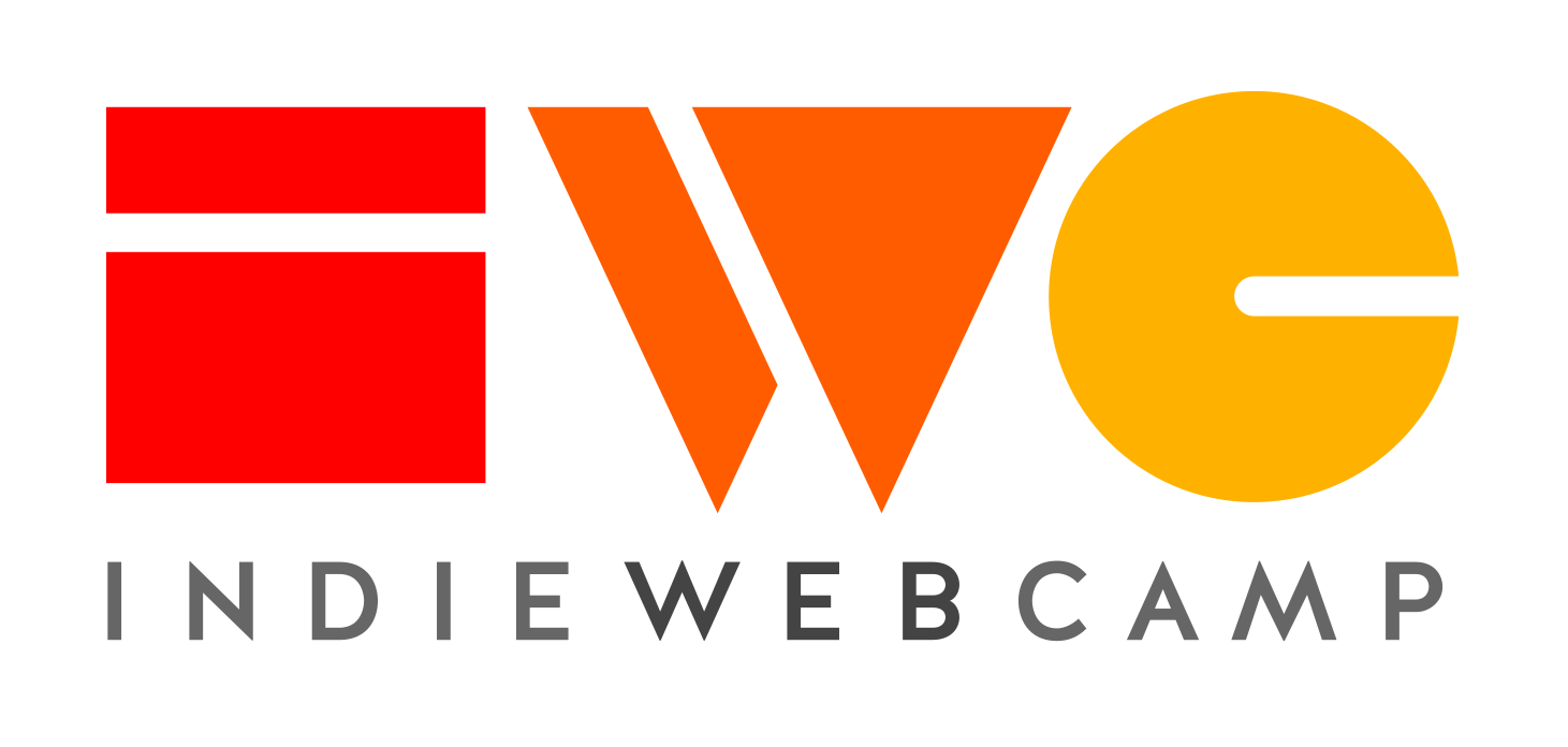 IndieWebCamp logo, the letters I.W.C. in a stylized blocky font