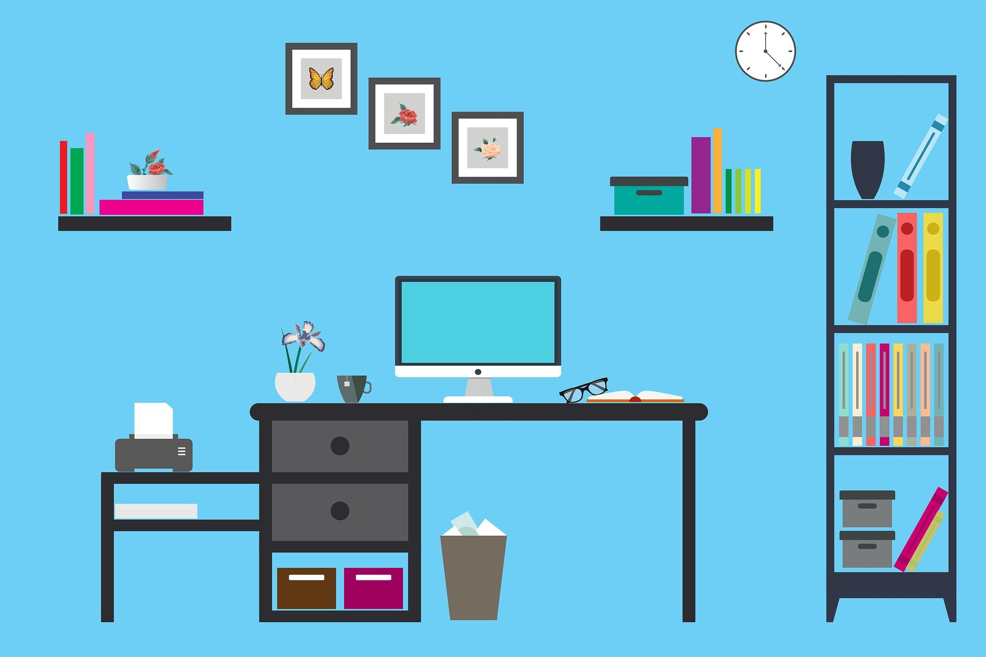 Home office—working from home