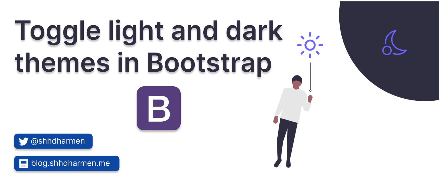 Toggle light and dark themes in Bootstrap