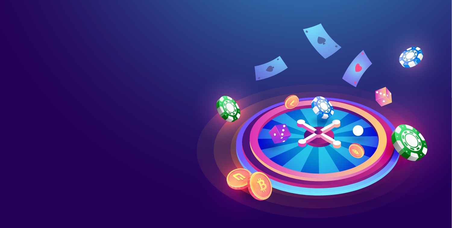 A collague of casino games and cryptocurrency tokens