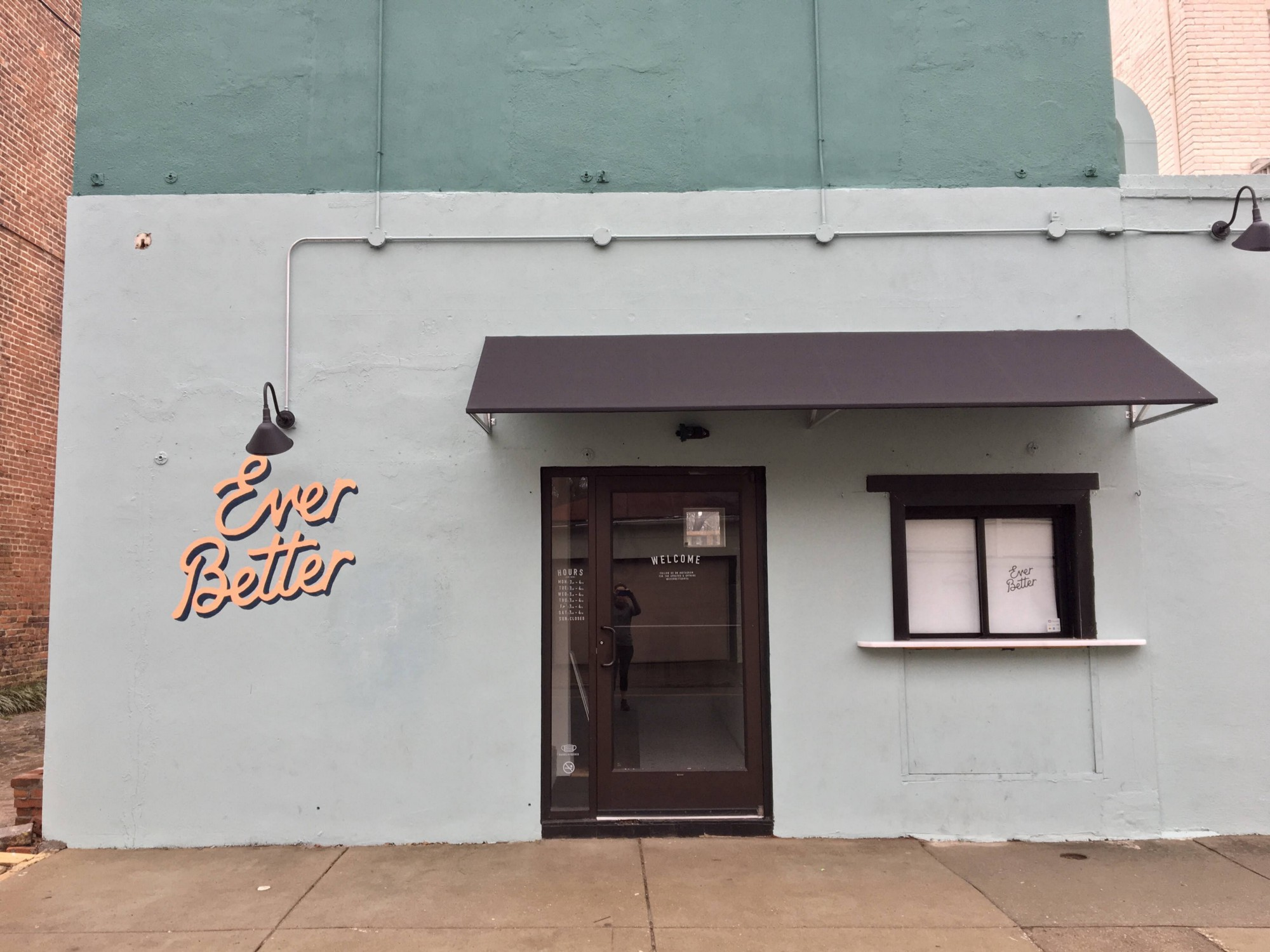 Outside of Ever Better coffee shop
