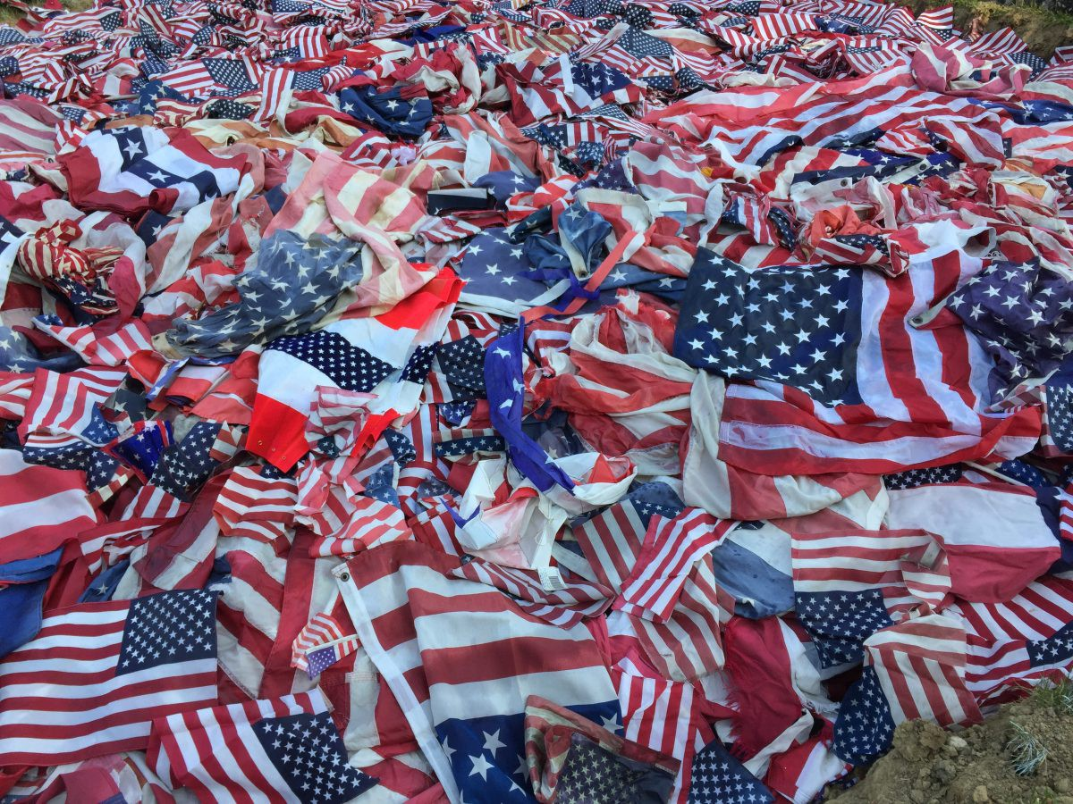 Multitude of Flags—reminds me of the celebatory crowds after the election