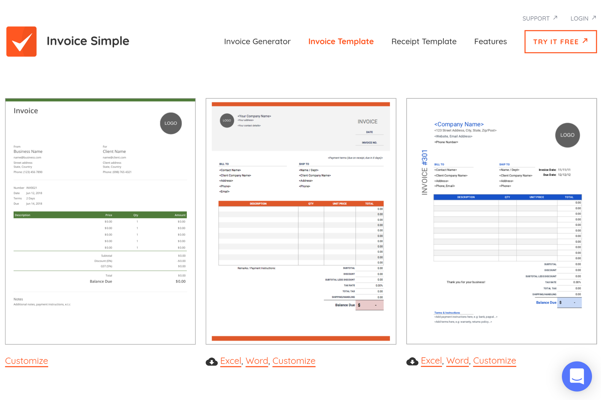 Top 10 Invoice Templates For Freelancers Free Blank Page