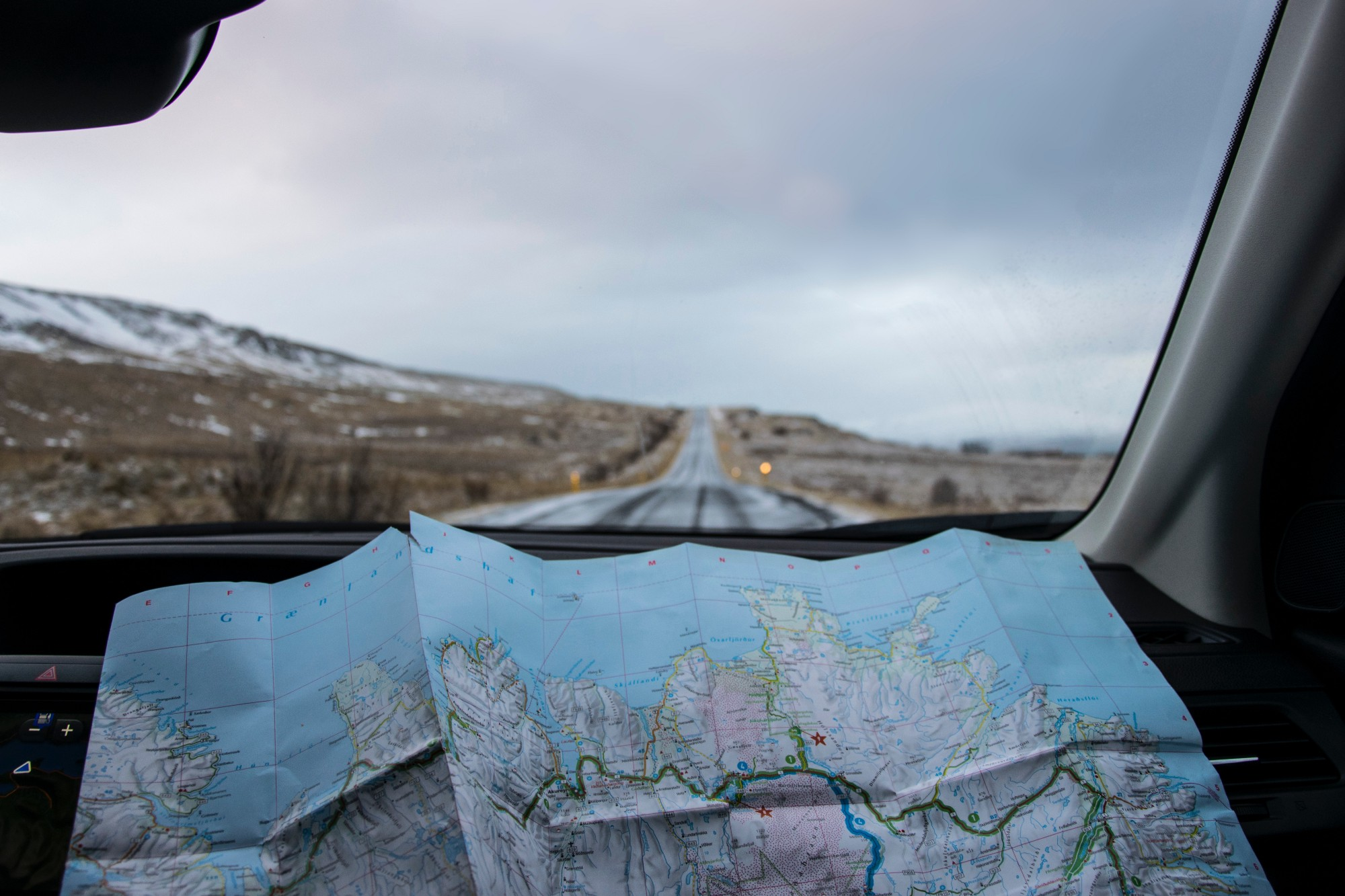 mapping out a road trip