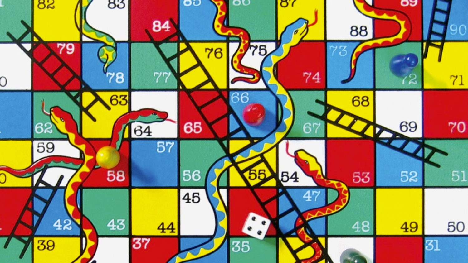 "The game ""Snake and ladders"" perfectly illustrate how luck plays an important part in our life."