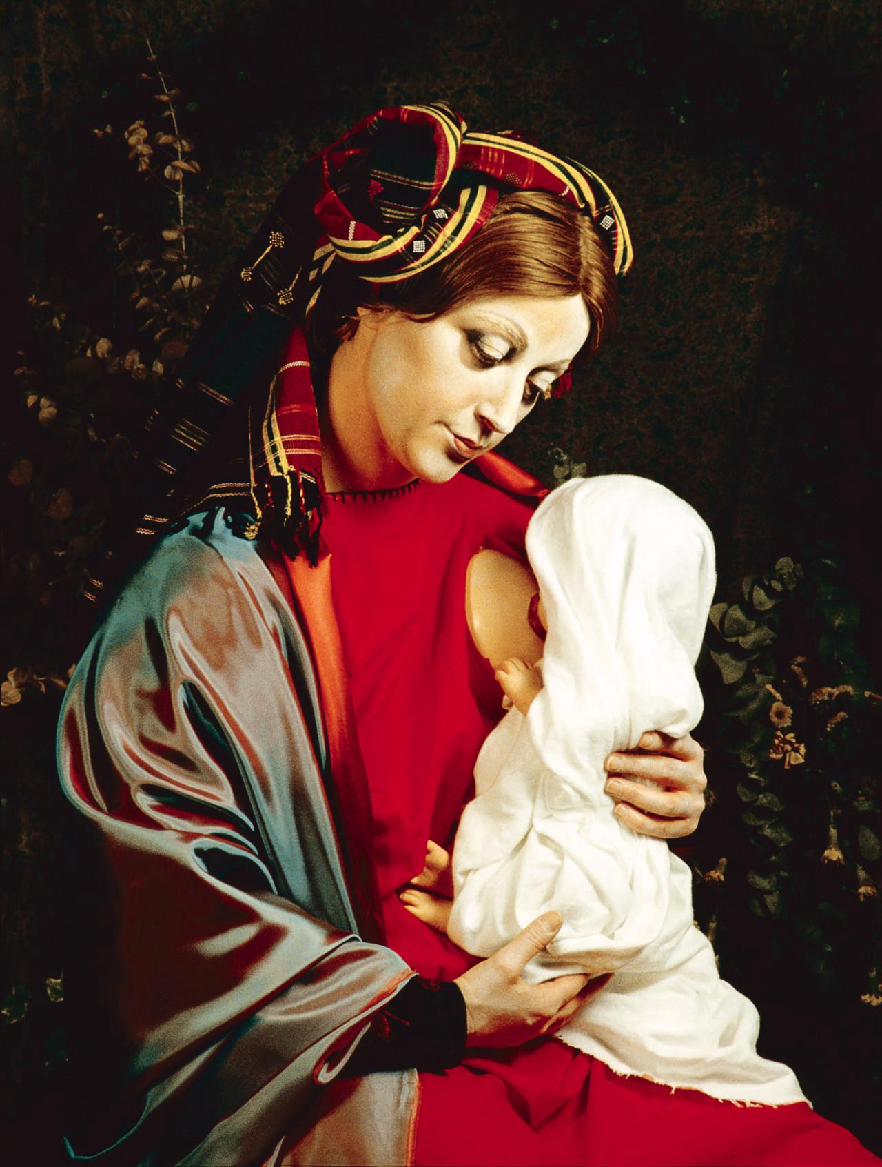 Cindy Sherman photo of madonna and child.