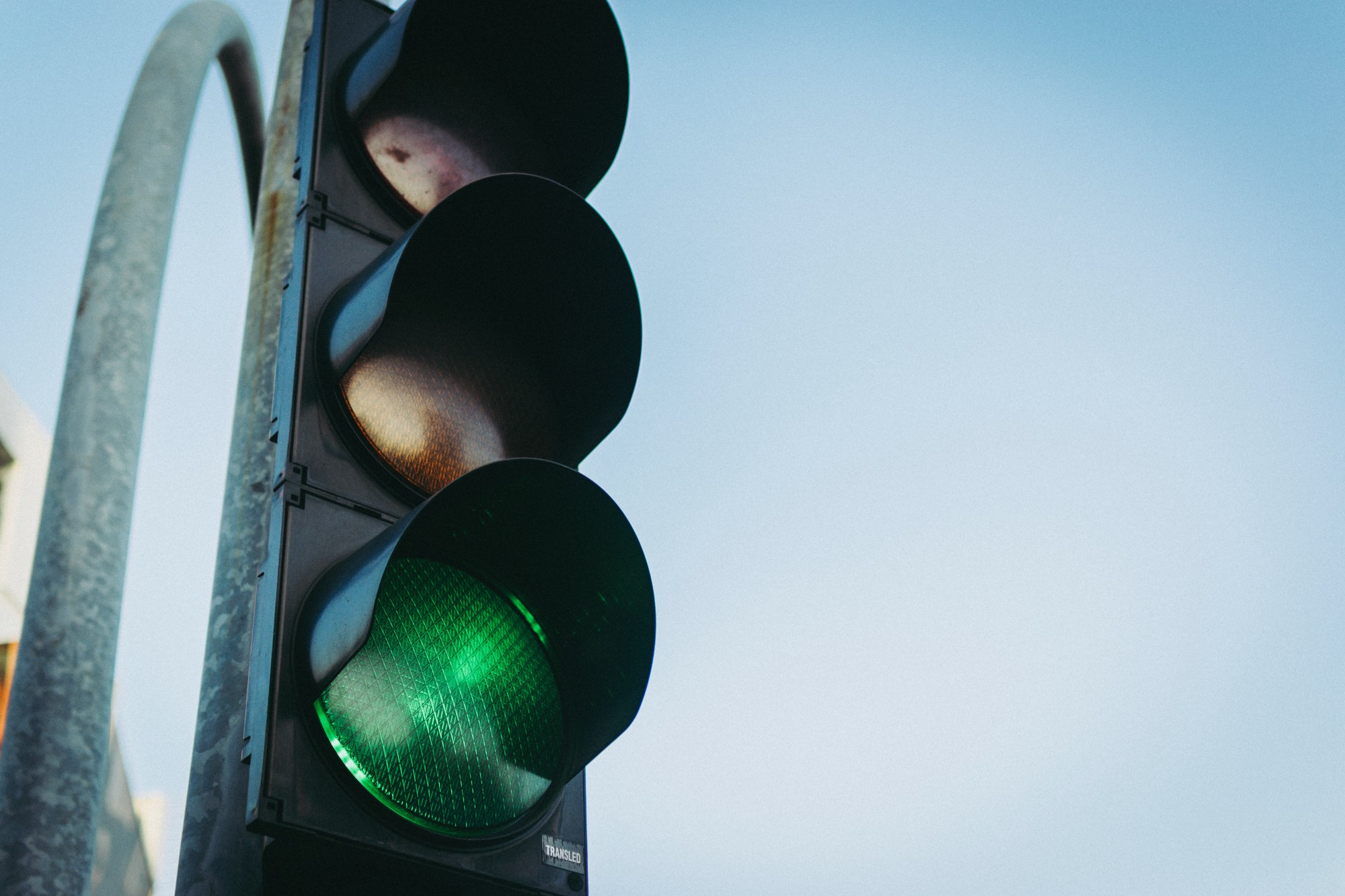 Image of a stoplight with the green light lit