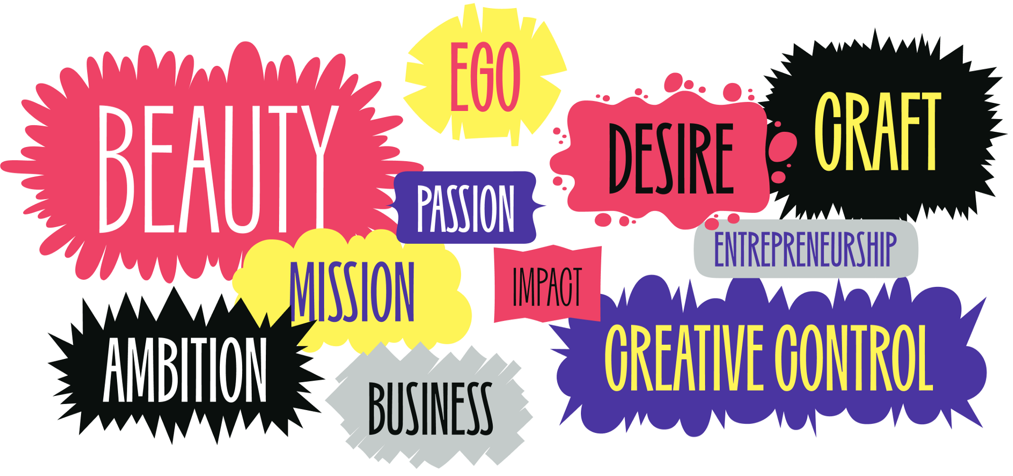 What drives you? Is it beauty, passion, the mission, impact, business, entrepreneurship, craft, ego, ambition, creative control?