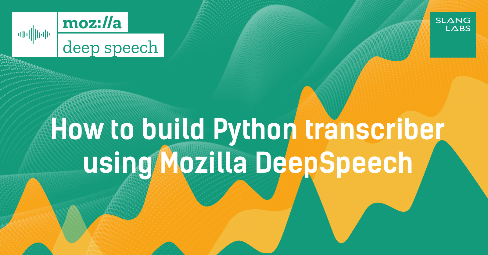 How to build Python transcriber using Mozilla DeepSpeech