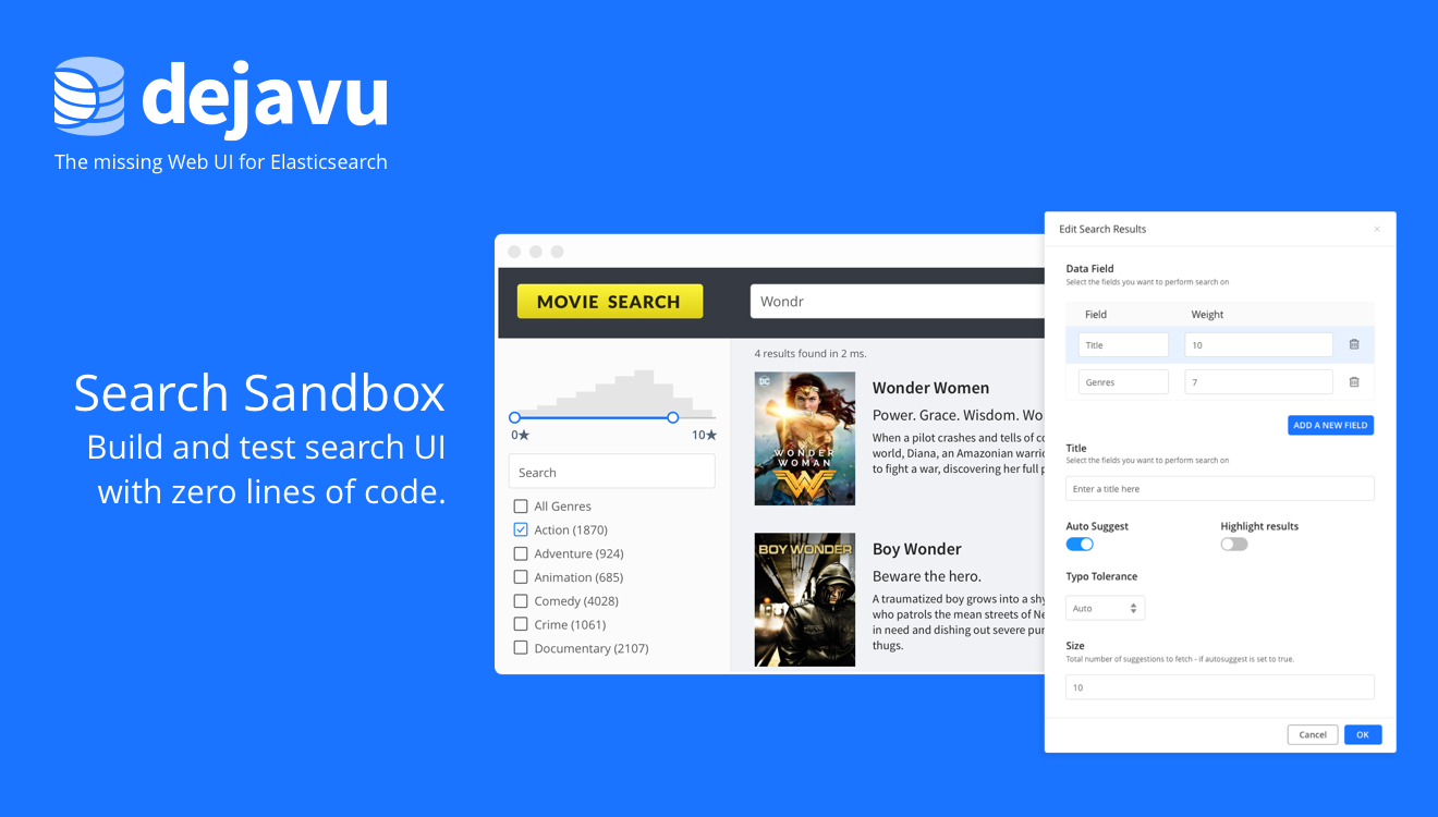 Dejavu 3 0: The missing Web UI for Elasticsearch - All things #search