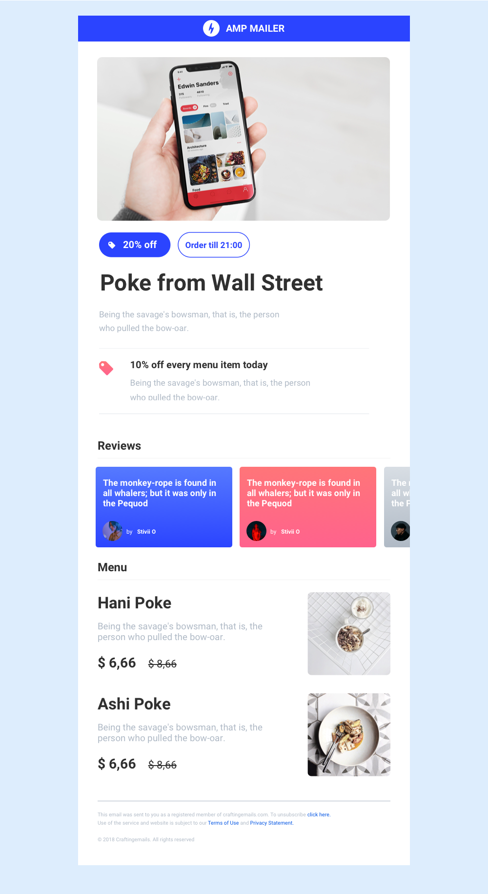 AMP newsletter emails template first steps  - Iggy - Medium