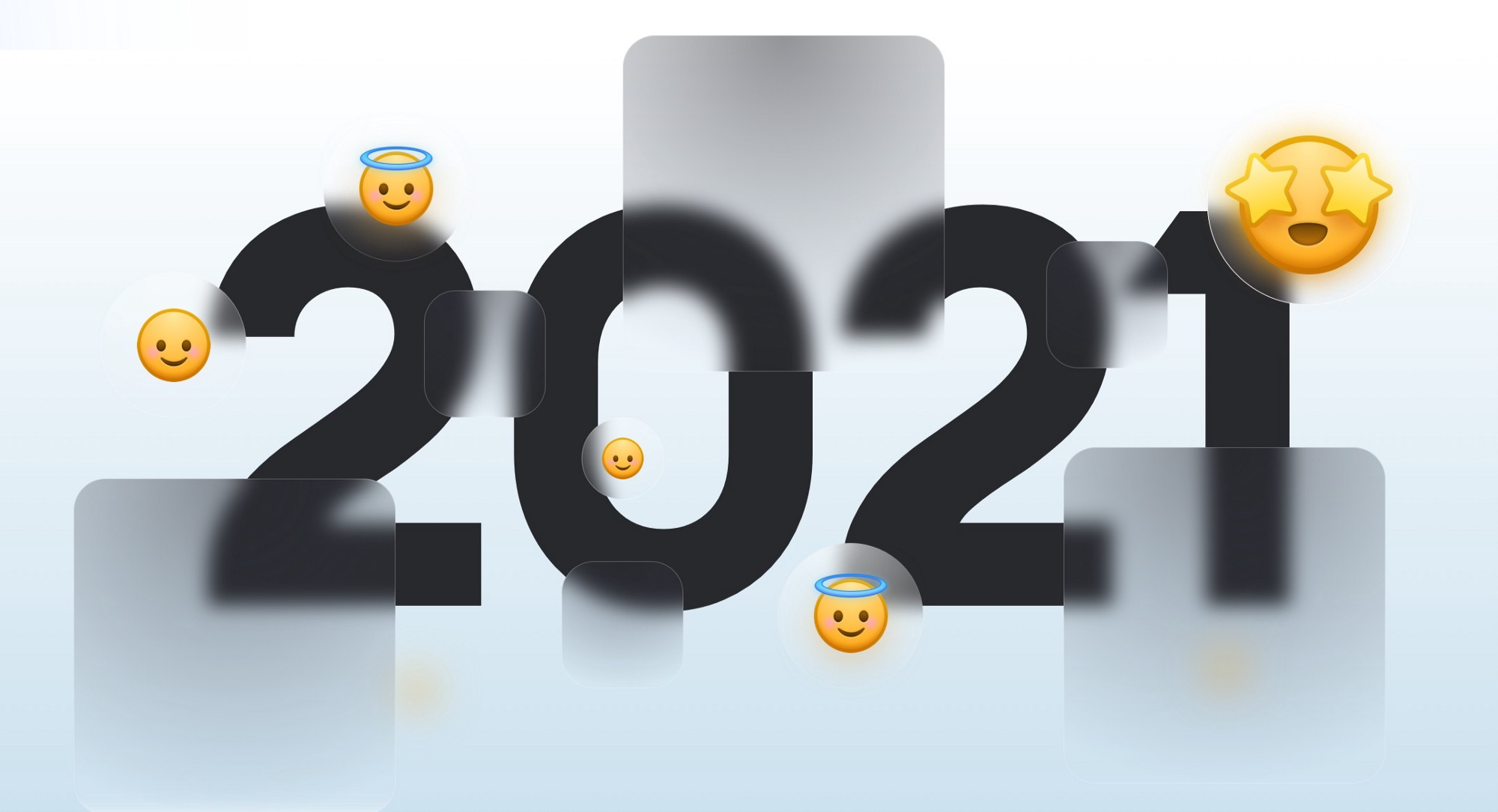 Glassmorphism in 2021 by hype4.academy