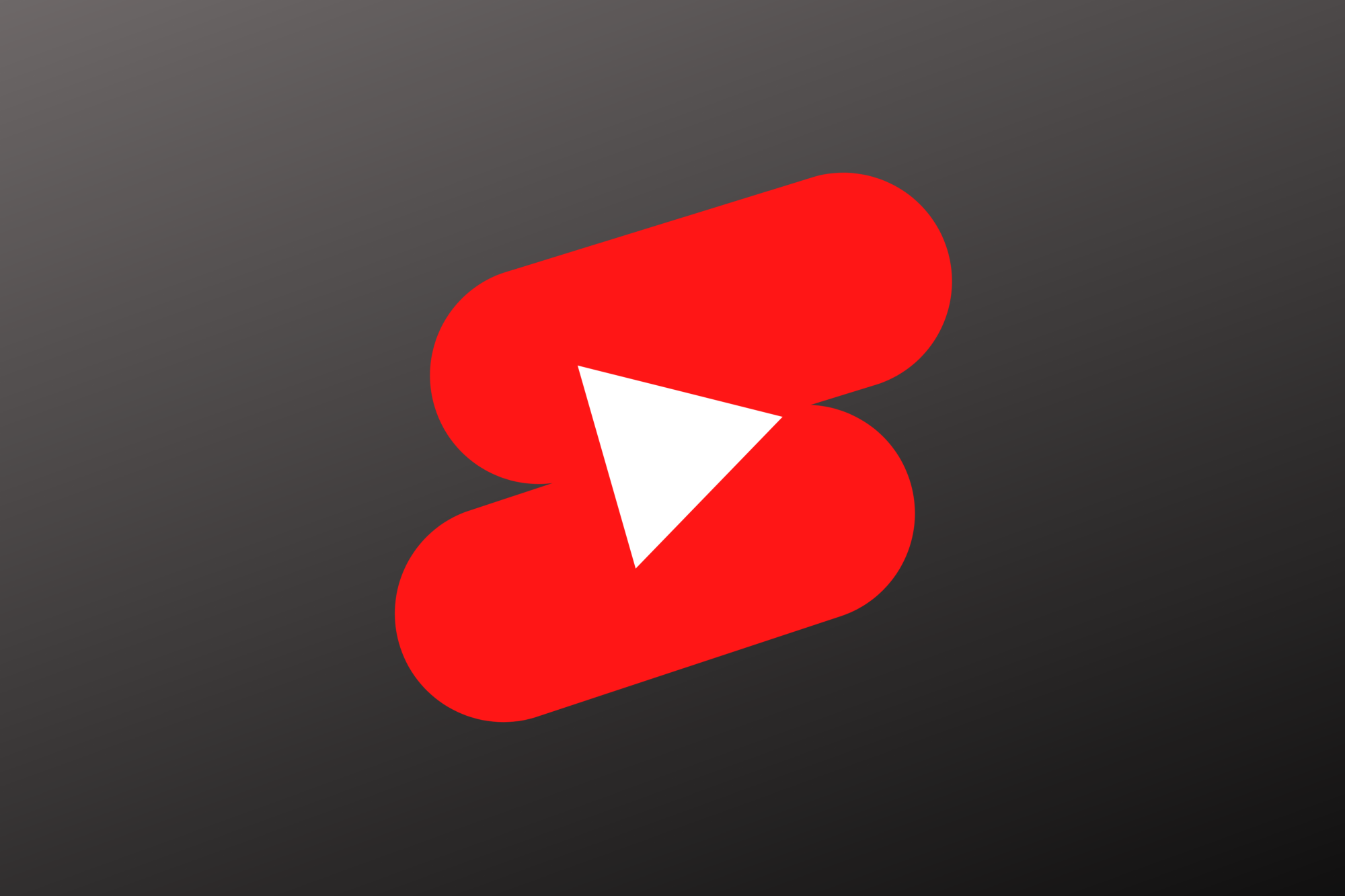 YouTube logo for Shorts in a black background.