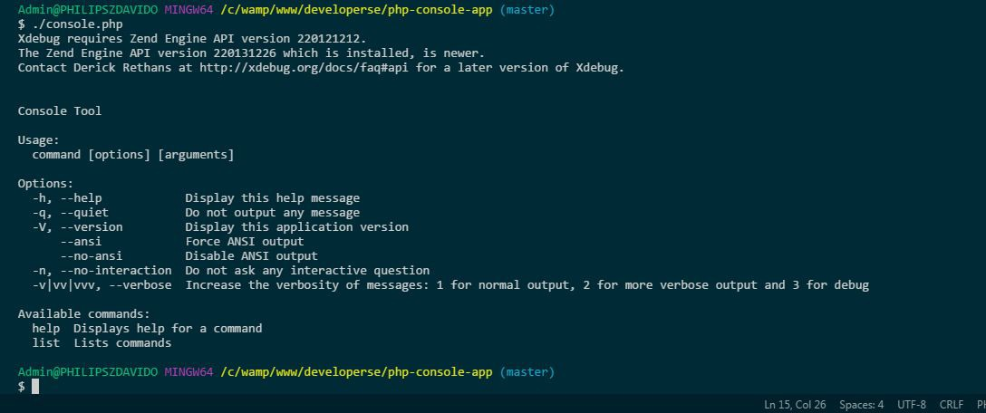 Build a PHP Console Application using Symfony - codeburst