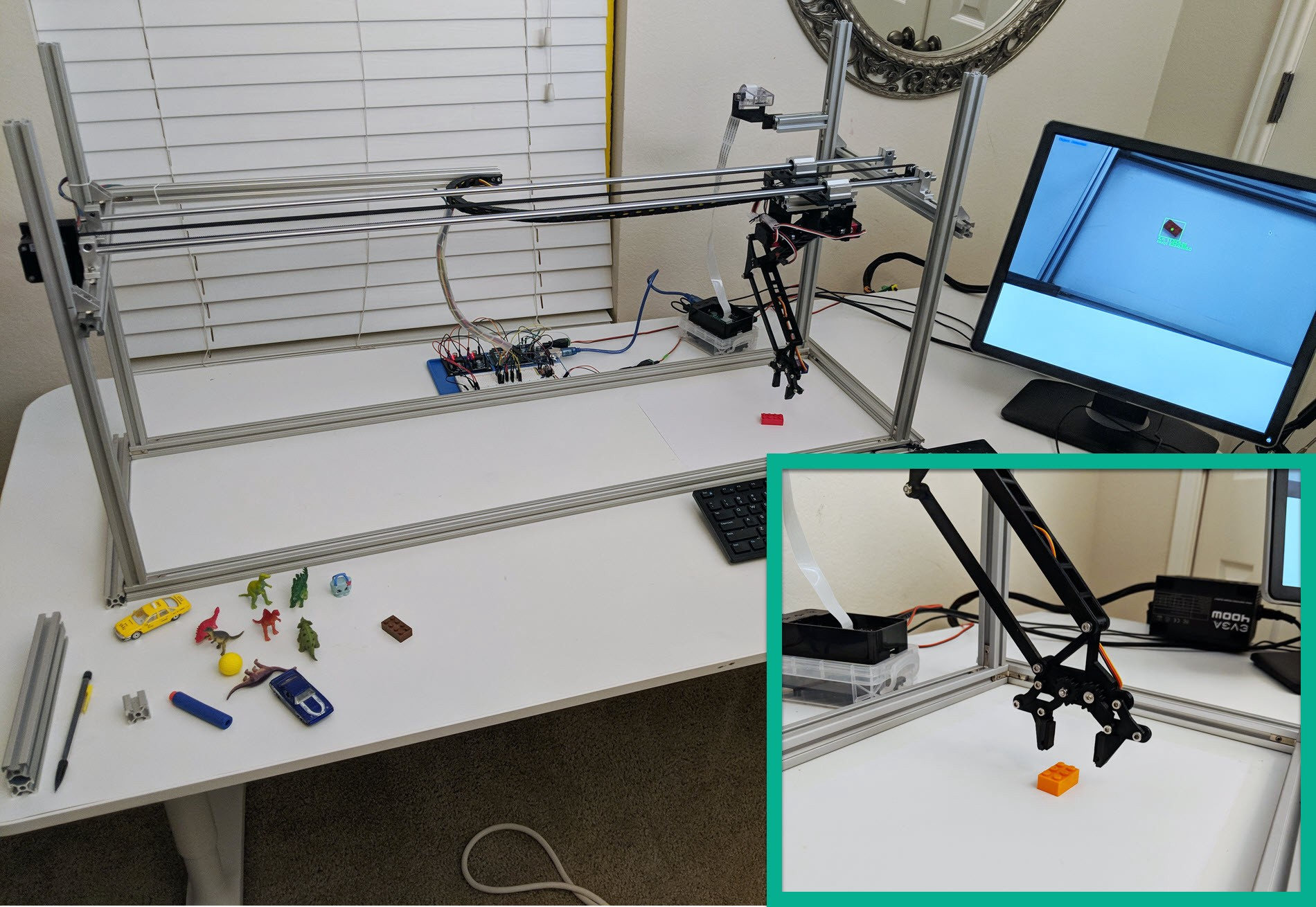 Computer Vision Pick and Place for Toys using Raspberry Pi and Arduino