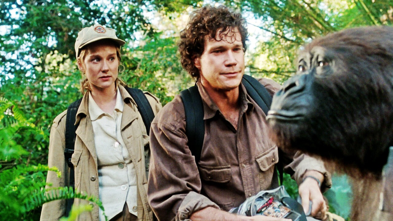 Laura Linney and Dylan Walsh in 'Congo'
