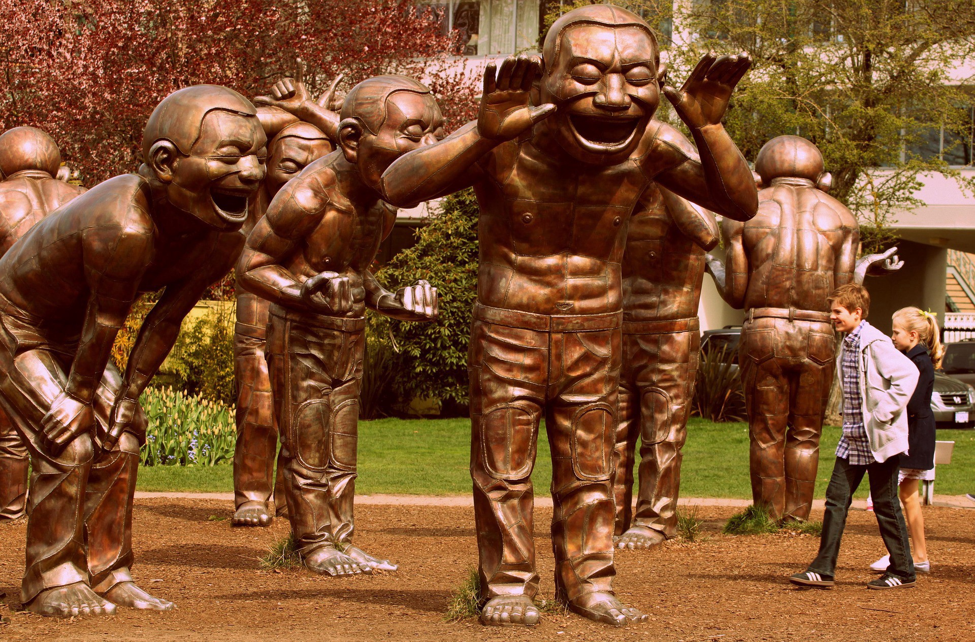 Laughing Statues