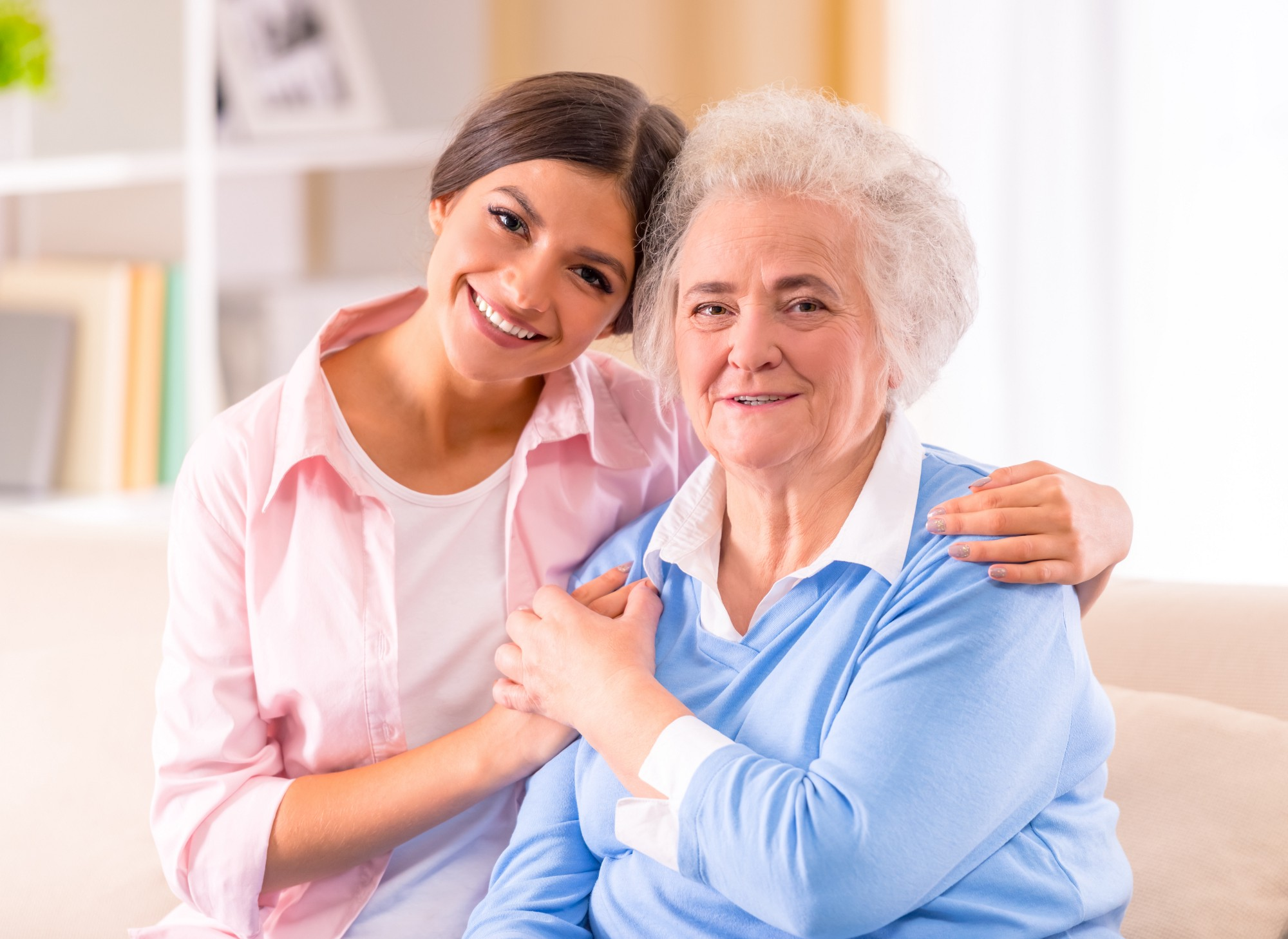 Care of Senior Woman at home
