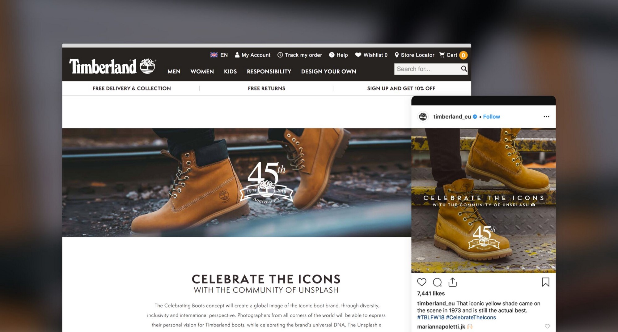 How Timberland created the visual campaign of the future with Unsplash
