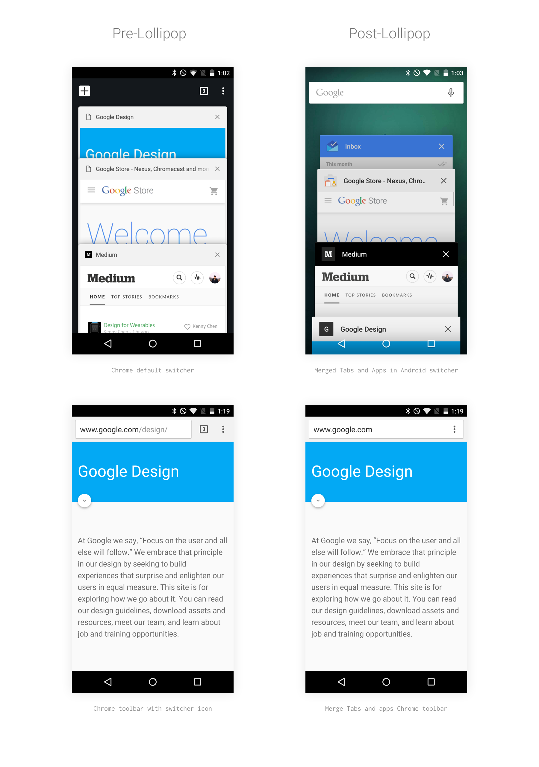 Redesigning Chrome Android  Part 1 of 2 - Google Design - Medium