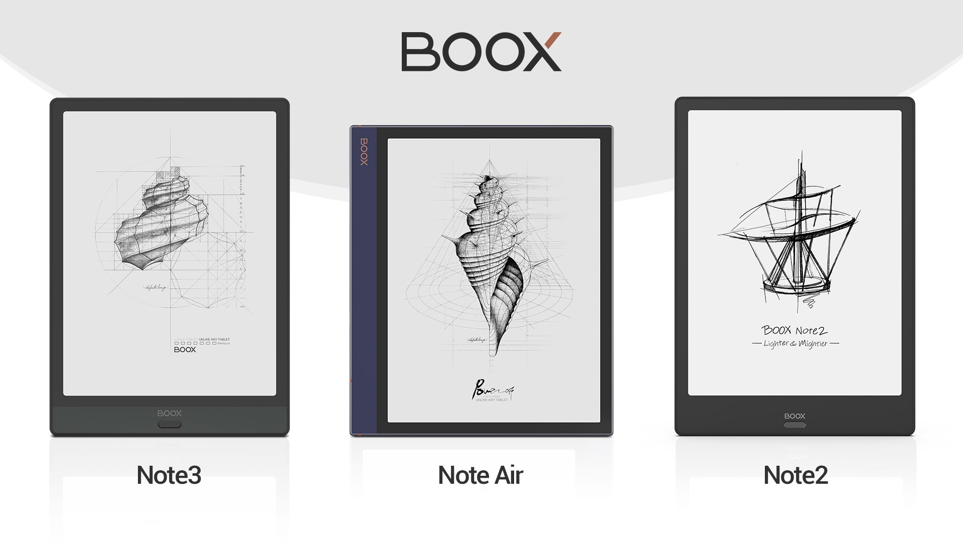 BOOX Note3, Note Air and Note2