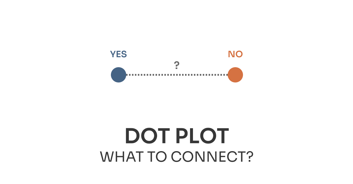What to connect in dot plot chart?