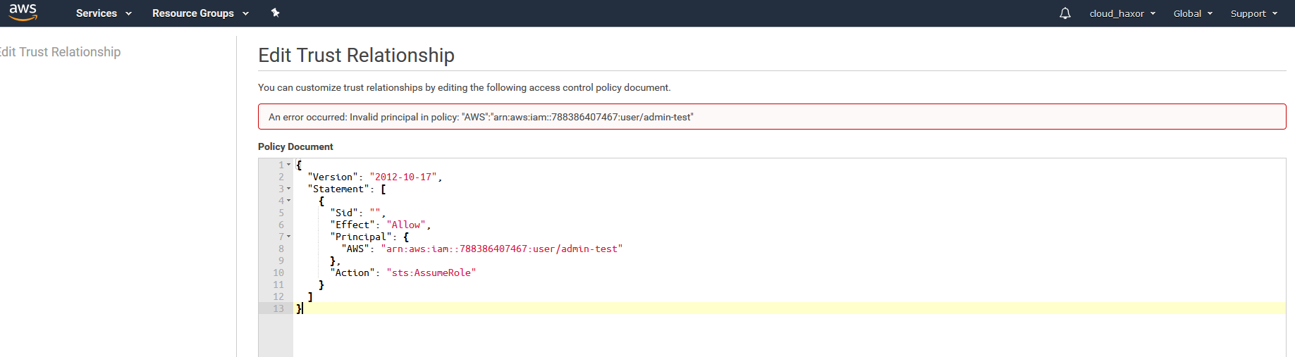 How to enumerate valid AWS Account IDs and IAM Accounts within any