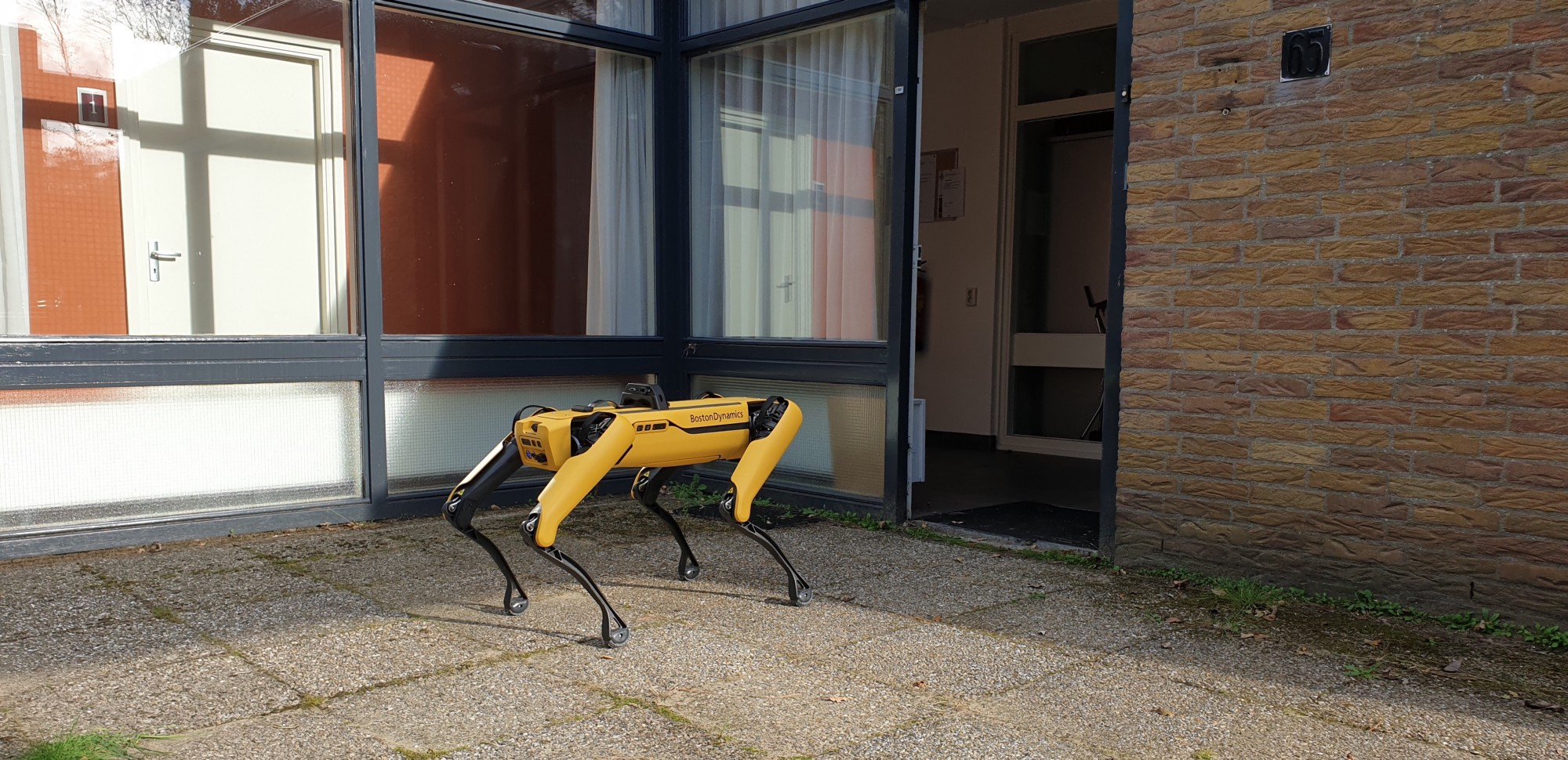 SPOT robot at TNO's research facilities, NL. Used with Permission.
