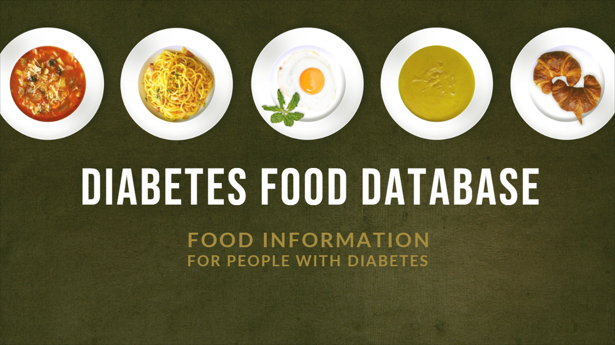 Introducing the Diabetes Food Database - Travis Horn
