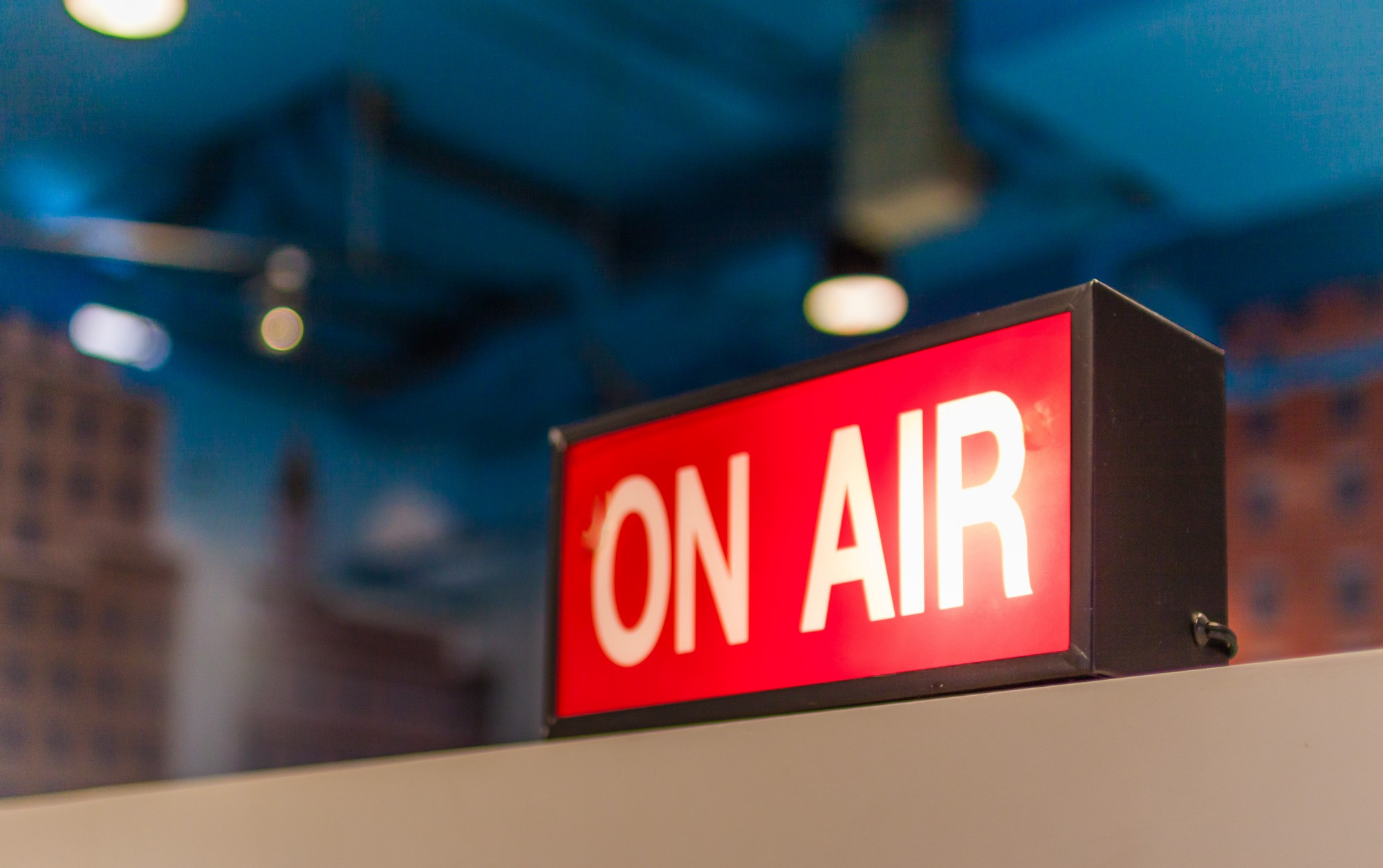 Broadcasting On Air sign