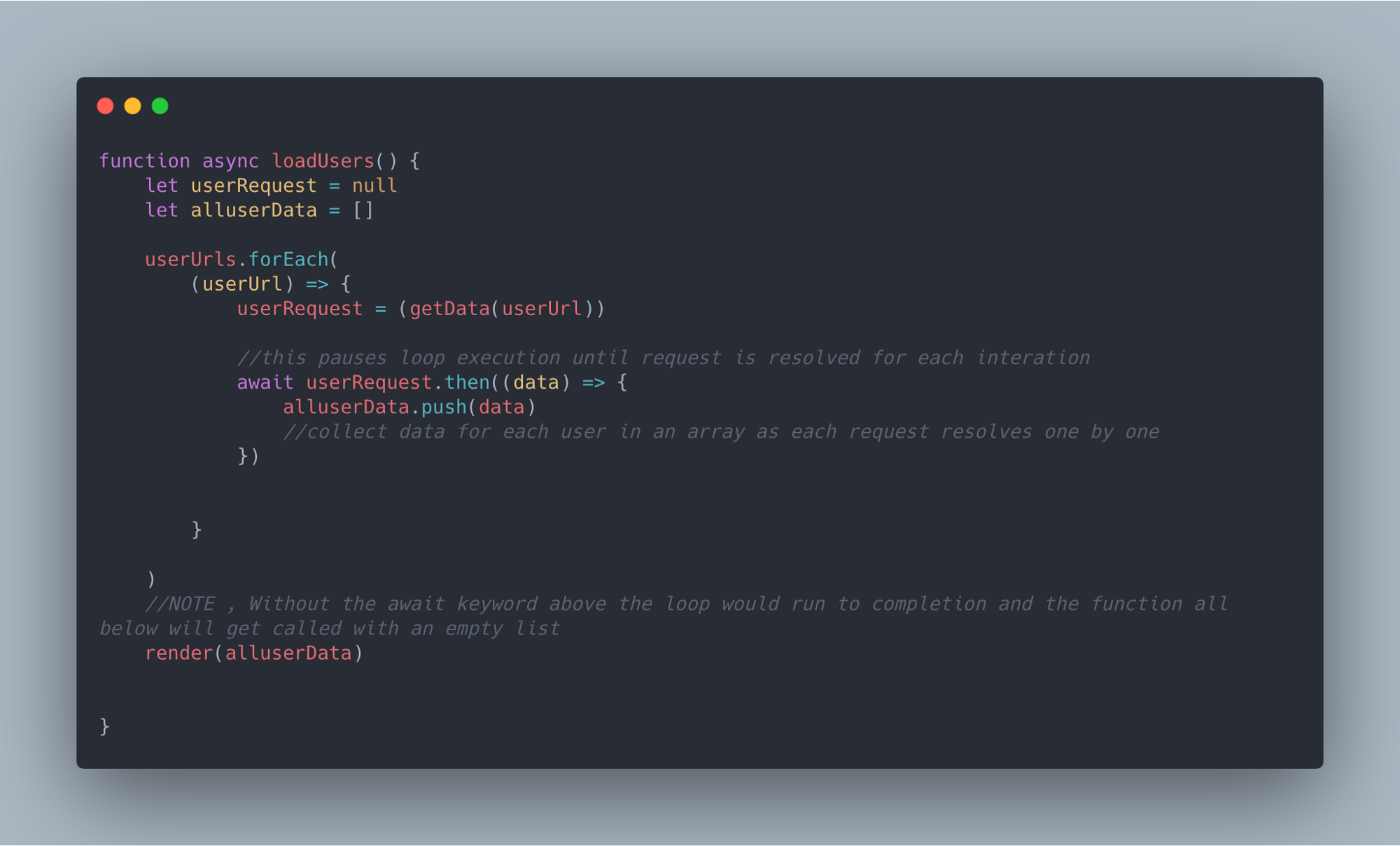 Javascript make asynchronous calls inside a loop and pause /block ...