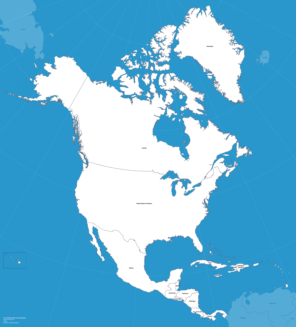 Open-Source Vector North America Map - Zach Grosser - Medium on
