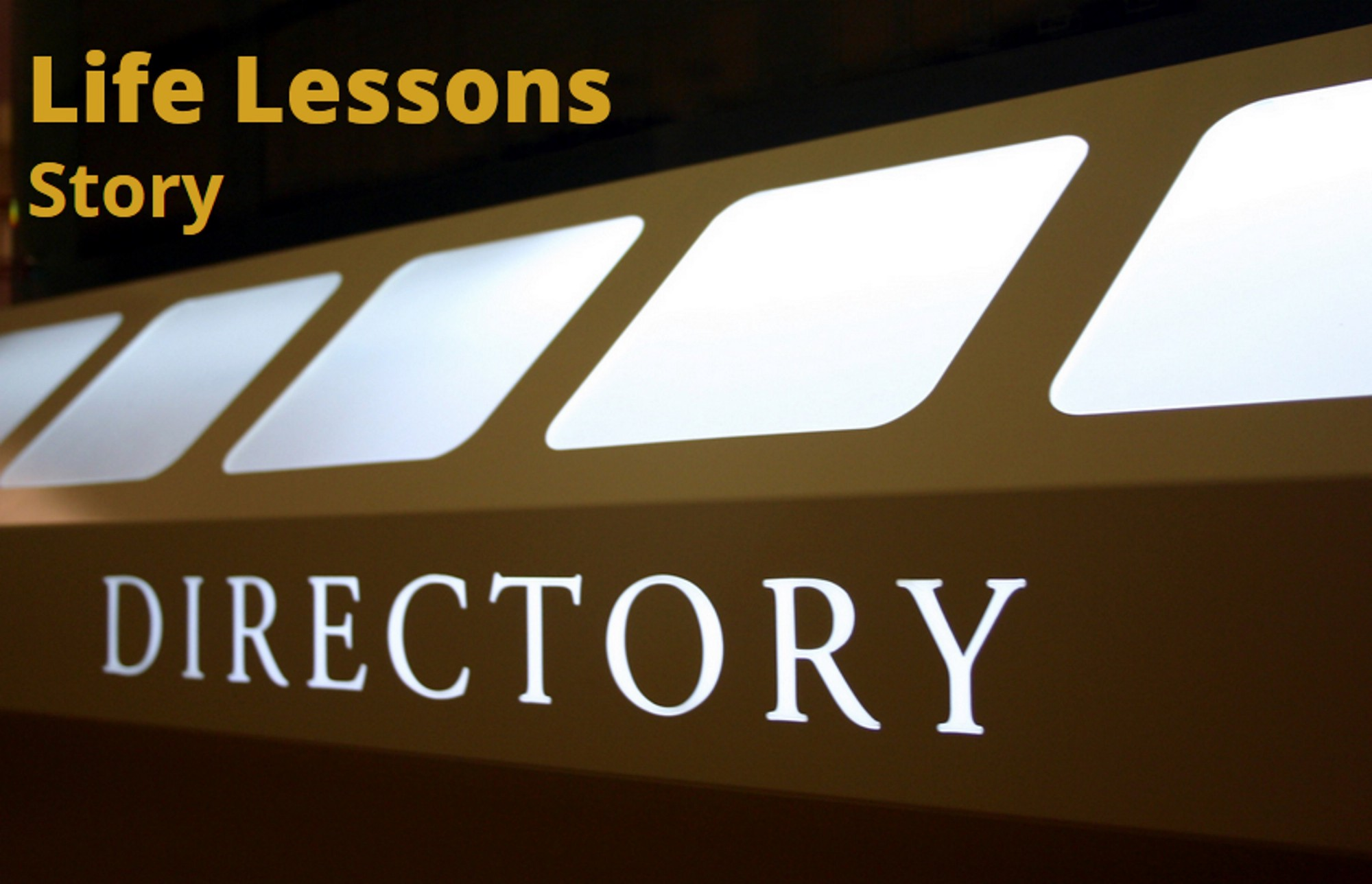 Graphic image saying Life Lessons Story Directory