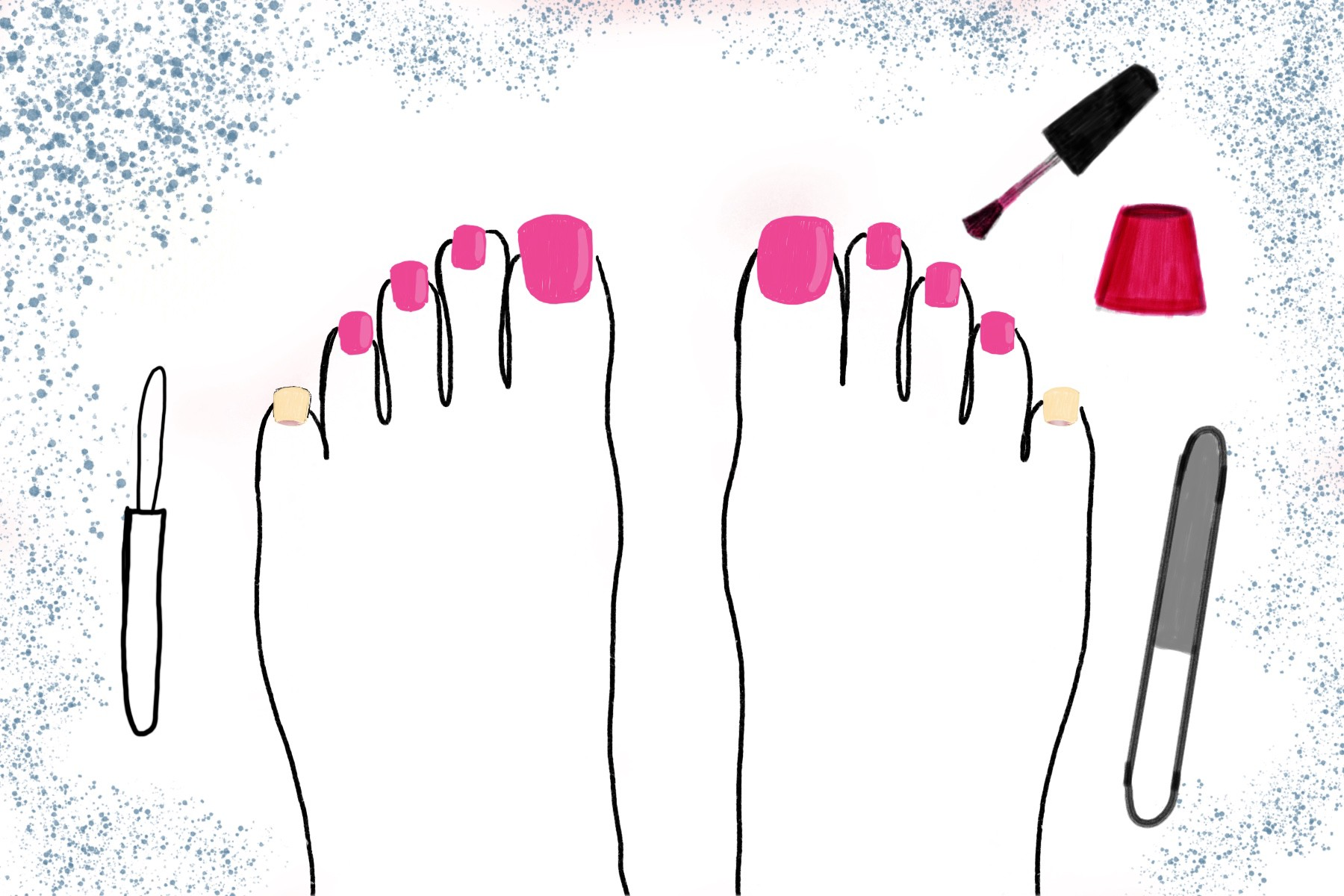 Do toenails their why paint guys Why More