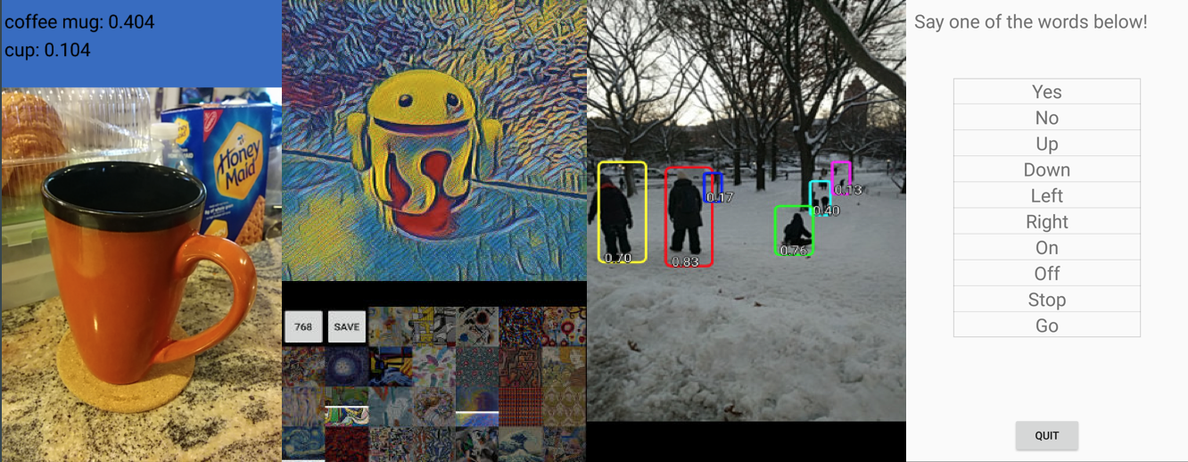 TensorFlow Image Classifiers on Android, Android Things, and iOS