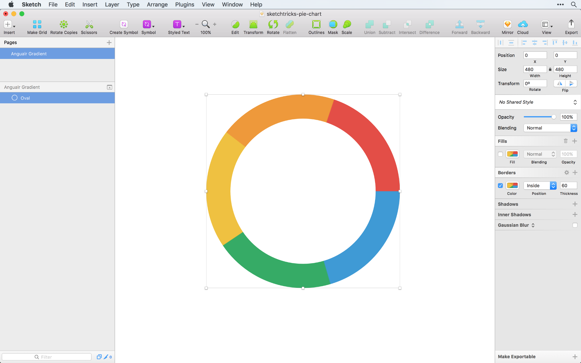 Creating a Pie Chart in Sketch the right way - Sketch Tricks - Medium
