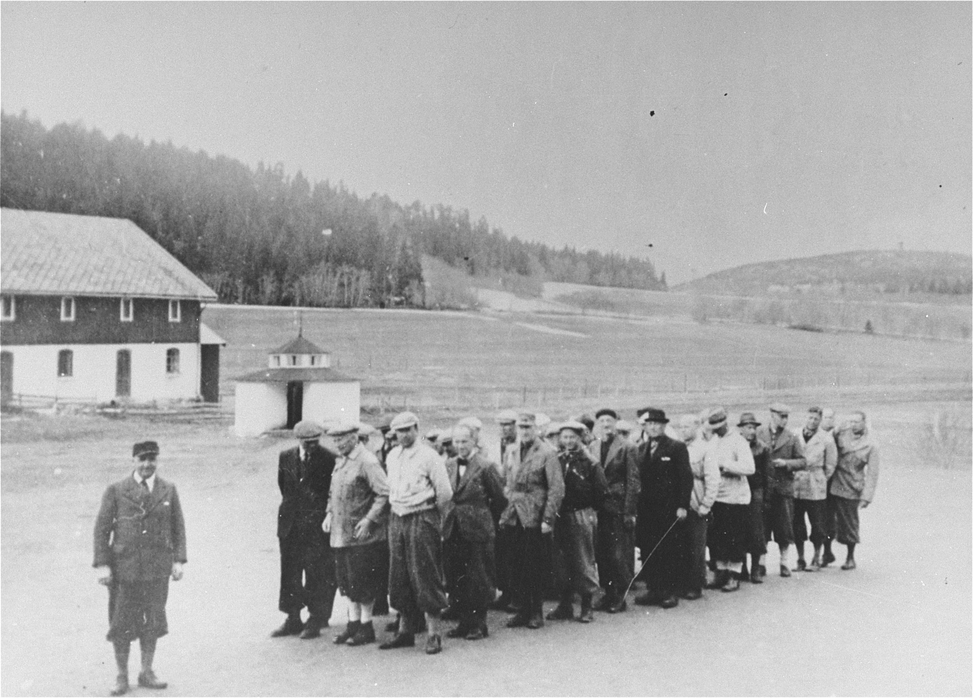 Norwegian teachers imprisoned in the Falstad concentration camp
