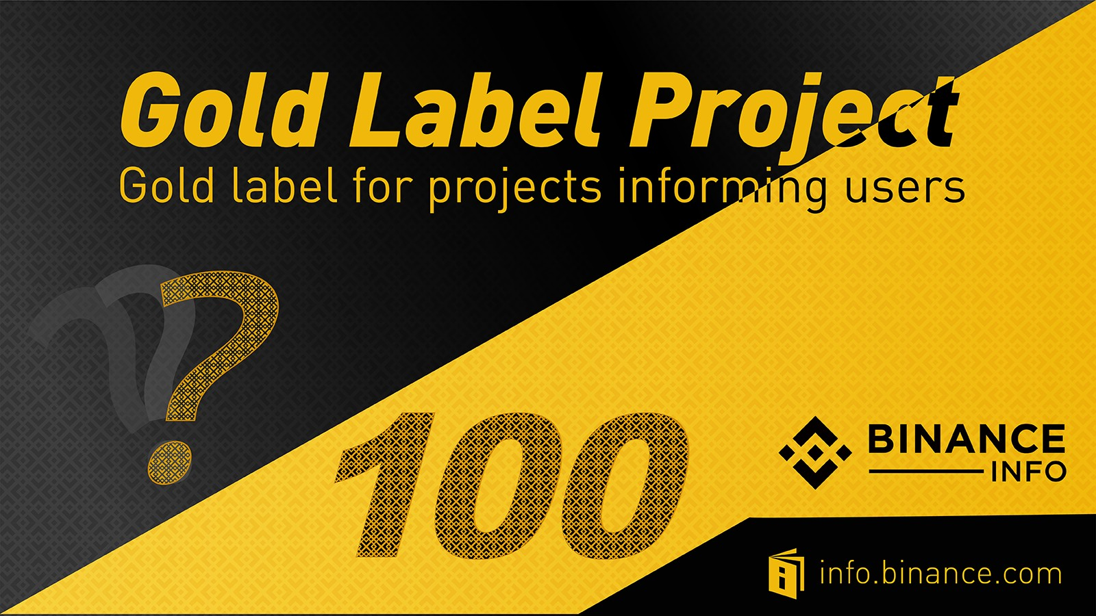 Binance Info Launches Gold Label Project - Binance Exchange - Medium