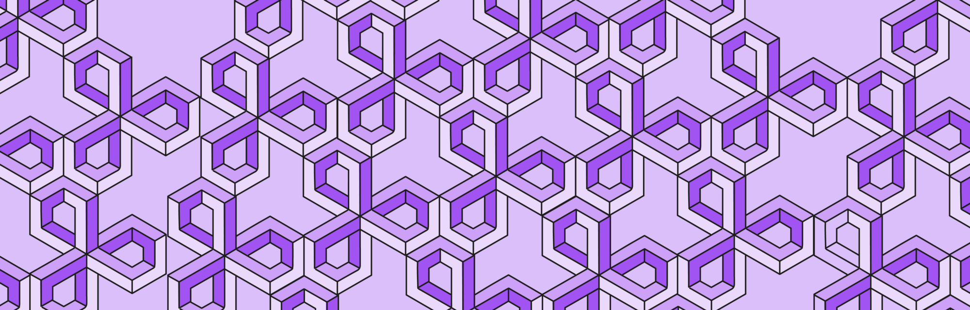 Pattern in shades of purple that plays with optical illussions
