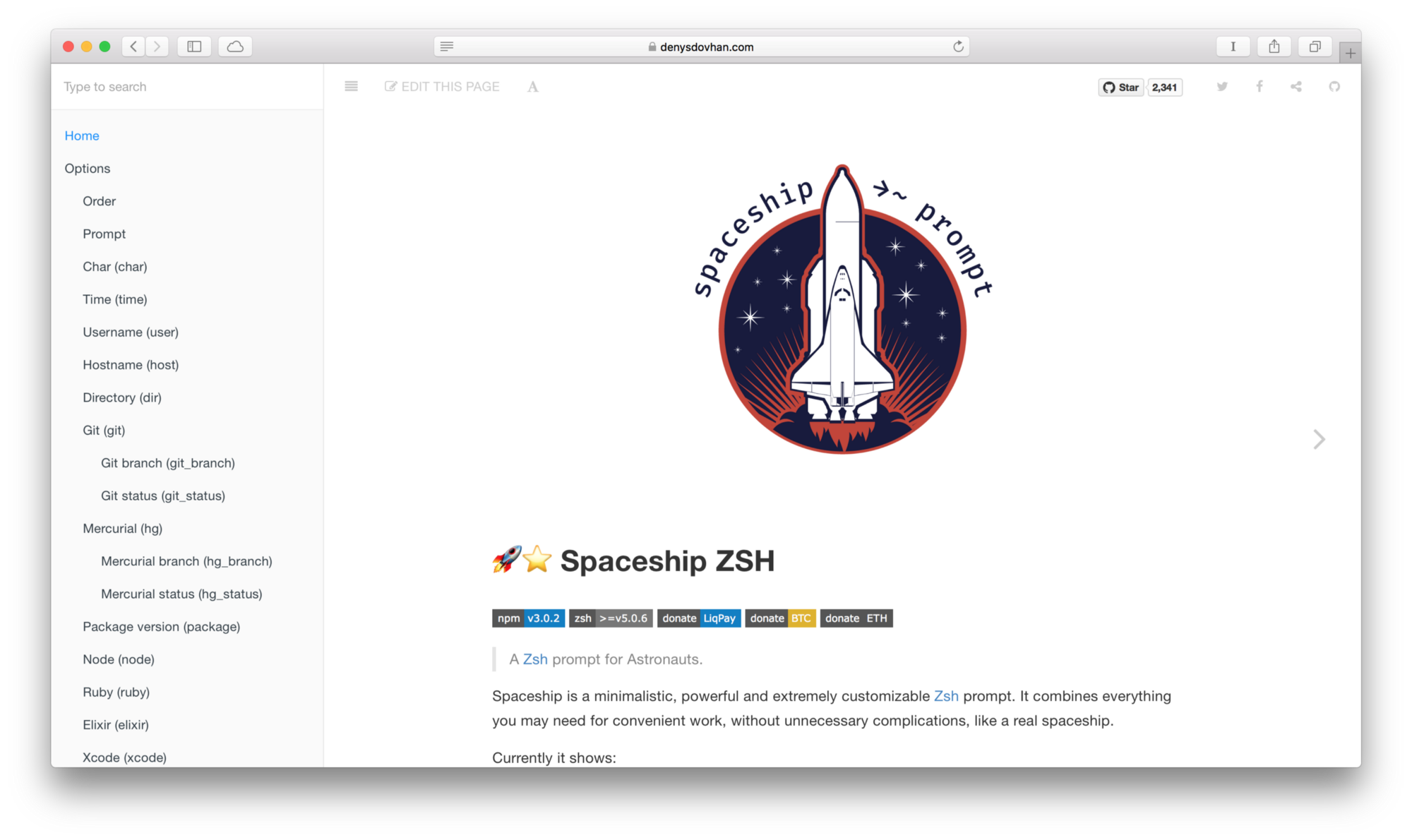 Meet Spaceship ZSH v3 0! - Denys Dovhan - Medium
